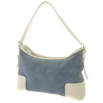ETRO logo type push one shoulder shoulder bag suede X leather Lady's fs3gm