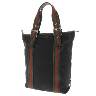GUCCI length type GG pattern tote bag GG canvas x leather unisex fs3gm
