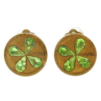 Ladies CHANEL clover logo earrings made of metal '