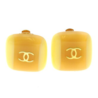 CHANEL here mark by color earrings resin system Lady's fs3gm