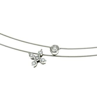 SELECT JEWELRY diamond necklace K18 white gold ladies fs3gm