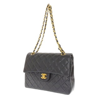 CHANEL matelasse shoulder bag Leather Womens