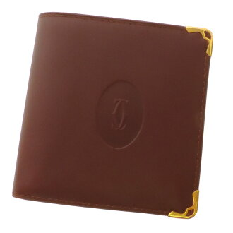 Mast CARTIER lines 2 fold wallet ( purses and ) leather unisex