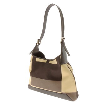 BALLY shoulder bag canvas x Leather Womens fs3gm