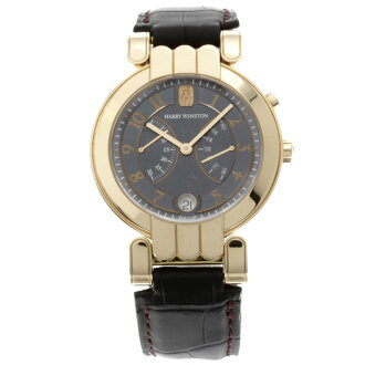 HARRY WINSTON プルミエール watch K18 pink gold / leather men fs3gm