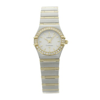 OMEGA constellation watch K18 pink /SS ladies fs3gm