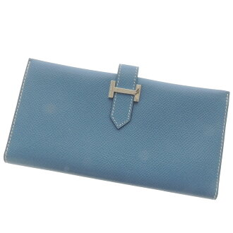 HERMES ベアン long wallet (there is a coin purse) Epson Lady's fs3gm