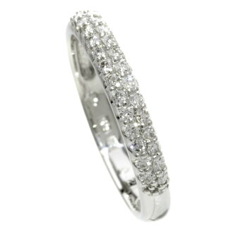 Ponte Vecchio diamond ring, ring K18 white gold Lady's upup7
