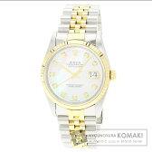 ROLEX【ロレックス】16233NG デイトジャスト 10Pダイヤモンド 腕時計 OH済 ステンレス/SSxK18YG/K18YG メンズ 【中古】