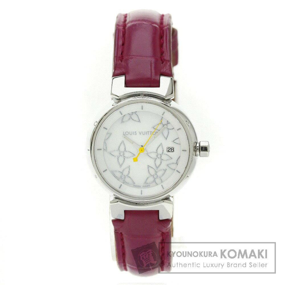 LOUIS VUITTON【ルイ・ヴィトン】Q121C タンブール 腕時計 ステンレススチール/革 レディース 【】