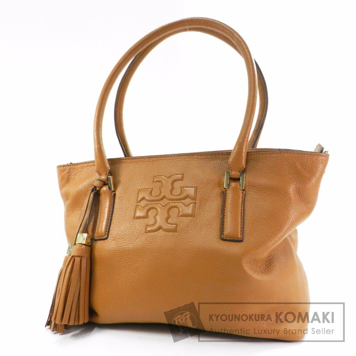 ... Global Market: Authentic Tory Burch Logo pattern Shoulder bag Leather