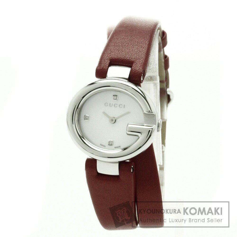 GUCCI【グッチ】 YA134.5 3PD 腕時計 ステンレススチール/革 レディース 【】 店長イチオシ