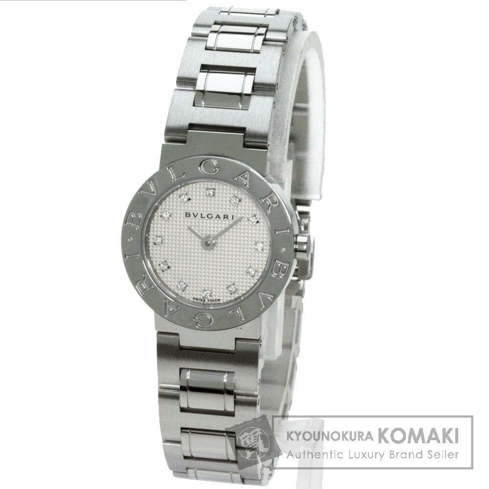 BVLGARI【ブルガリ】BB26SS/12 ブルガリブルガリ 12Pダイヤモンド 腕時計 ステンレススチール レディース 【】