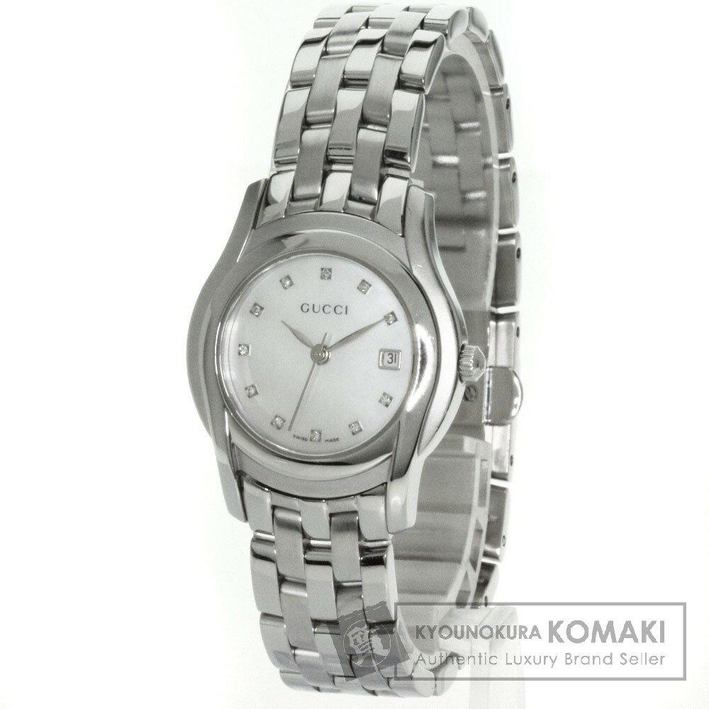 GUCCI【グッチ】 5500L 11Pダイヤモンド 腕時計 ステンレス レディース 【】
