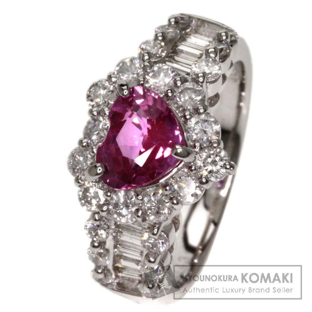 1.43ct ピンクサファイア/ダイヤモンド リング・指輪 プラチナPT900 8.2g レディース 【】