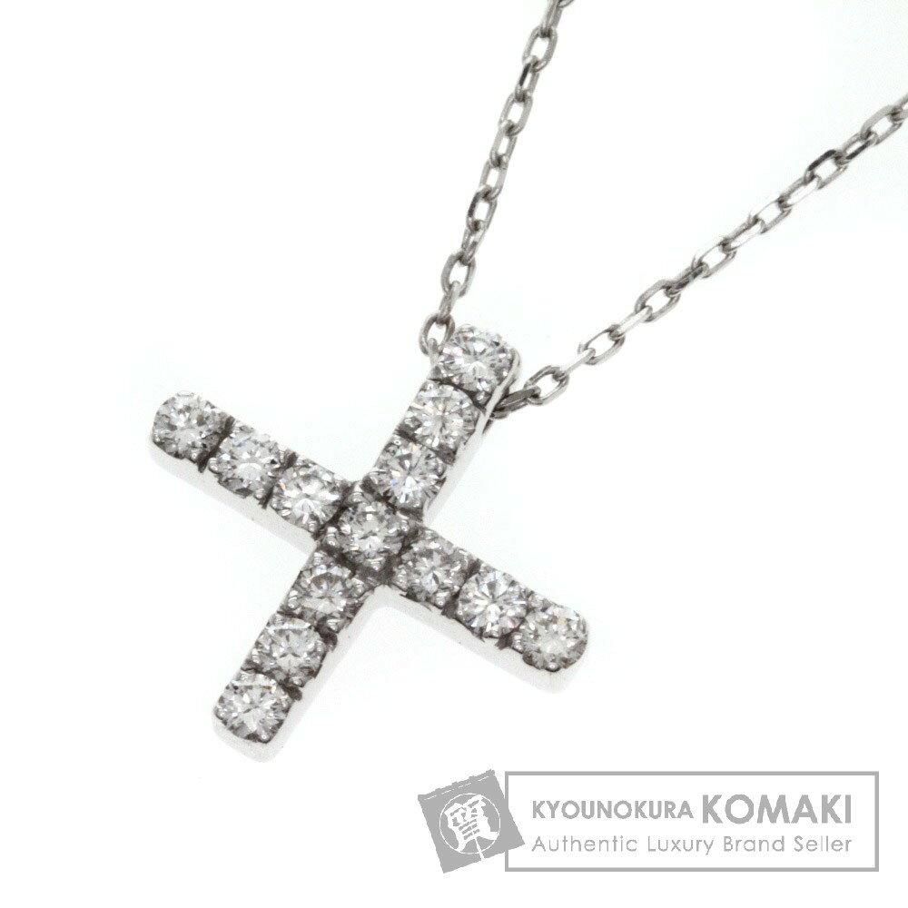 GUCCI【グッチ】 ダイヤモンド クロス ネックレス K18ホワイトゴールド レディース 【】 店長イチオシ