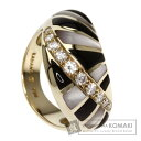 KABANA【カバナ】 オニキス/シェル/ダイヤモンド リング・指輪 K18イエローゴールド レディース 【中古】
