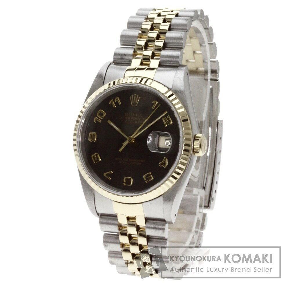 ROLEX【ロレックス】16233 デイトジャスト アラビア数字 腕時計 ステンレス/SSxK18YG メンズ 【】