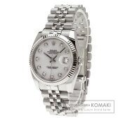 ROLEX【ロレックス】116234NG デイトジャスト 10Pダイヤモンド 腕時計 ステンレス メンズ 【中古】