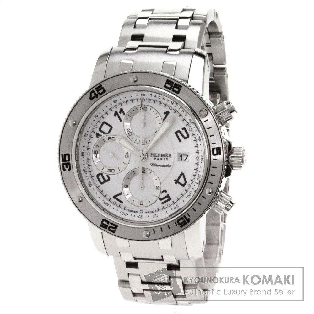 HERMES【エルメス】CP2.910 クリッパー ダイバー クロノグラフ 腕時計 ステンレス メンズ 【】