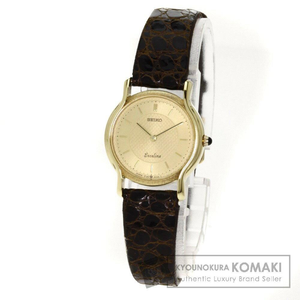 SEIKO エクセリーヌ 腕時計 K18イエローゴールド/アリゲーター レディース 【】【セイコー】