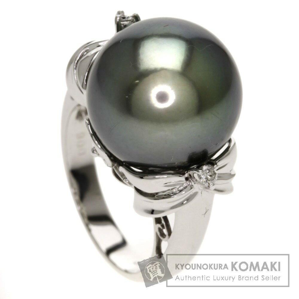 0.06ct パール/ダイヤモンド リング・指輪 K18ホワイトゴールド 10g レディース 【】