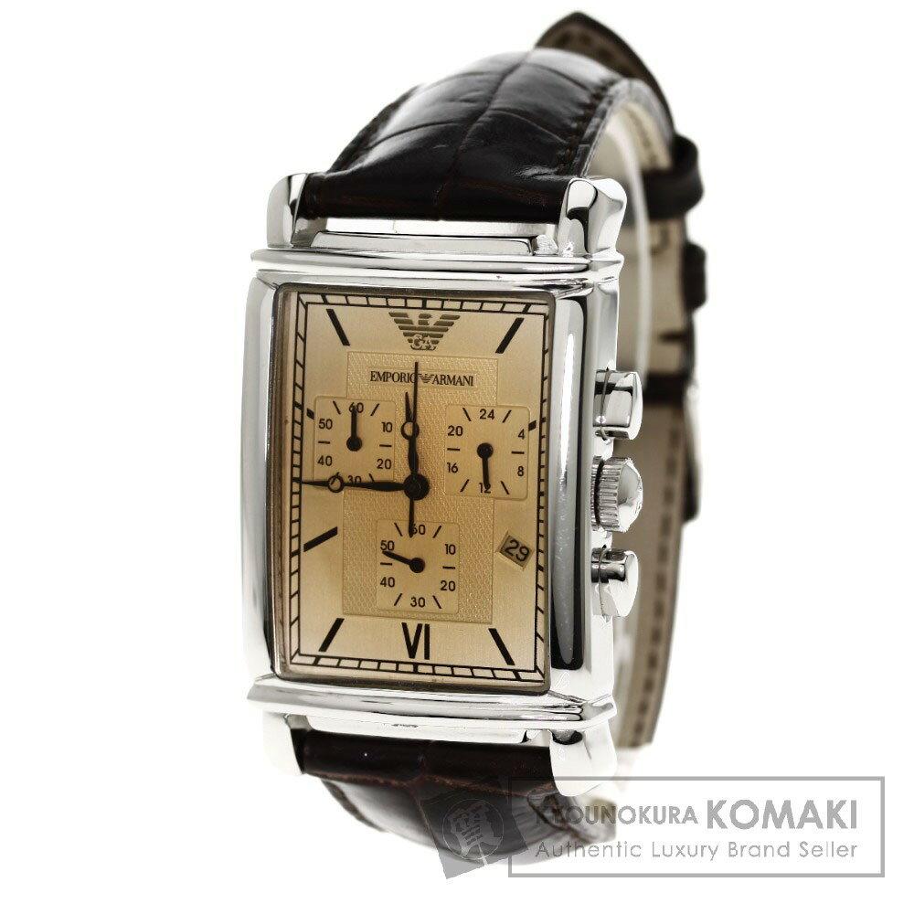 Emporio Armani AR-0285 腕時計 ステンレス/革 メンズ 【】【エンポリオ・アルマーニ】