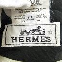 HERMES Hロゴ 帽子 57 ポリエステル/ナイロン レディース 【中古】【エルメス】