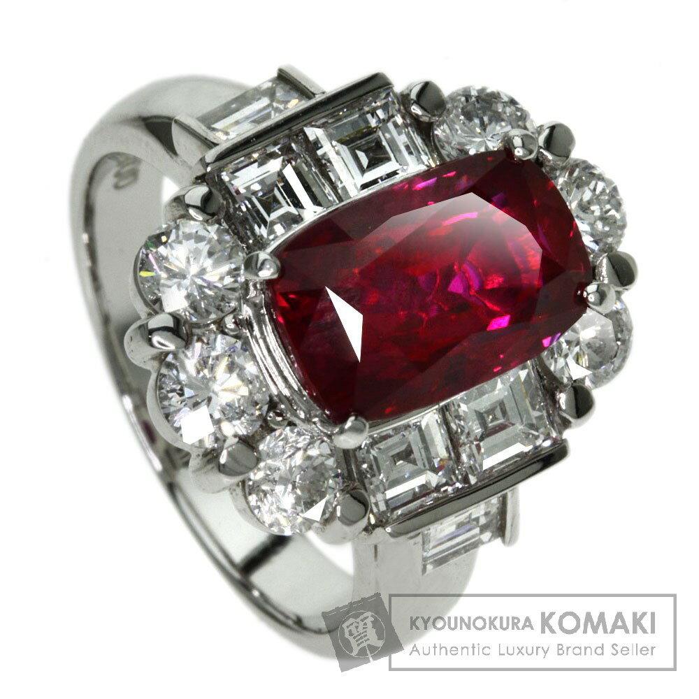 4.04ct ルビー/ダイヤモンド リング・指輪 プラチナPT900 11g レディース 【中古】