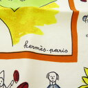 エルメス カレ40 RETOUR A LA TERRE スカーフ シルク レディース 【中古】 【HERMES】