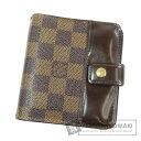 ルイヴィトン N61668 ダミエ コンパクト・ジップ 二つ折り財布(小銭入れあり) ダミエキャンバス レディース 【中古】【LOUIS VUITTON】