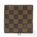 ルイヴィトン N61675 ポルトフォイユ・マルコ 二つ折り財布(小銭入れあり) ダミエキャンバス メンズ 【中古】【LOUIS VUITTON】
