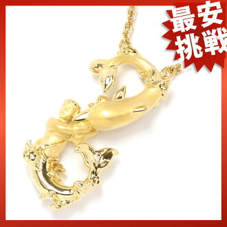 Carrera y Carrera dolphin motif necklace pendant K18 gold Lady's