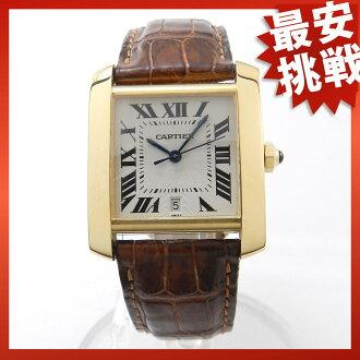 CARTIER タンクフランセーズ LM K18/ leather watch men