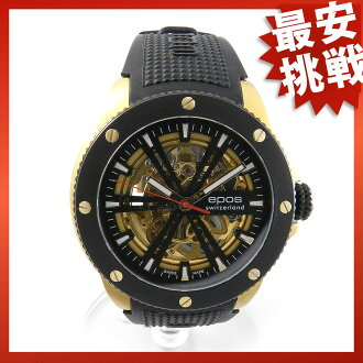 EPOS sports 3389 SKGPBBKR rubber/GA/GP watch