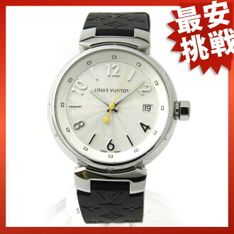 LOUIS VUITTON Tambour Q1313 SS / rubber watch
