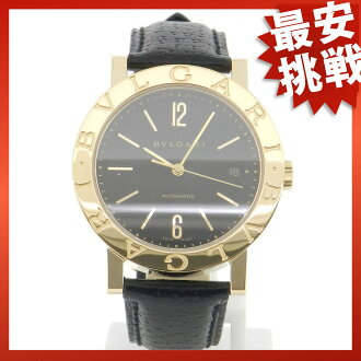 BVLGARIBB38GLD ブルガリブルガリ watch K18YG / leather men's
