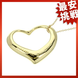 TIFFANY & co... open heart necklace K18 gold ladies