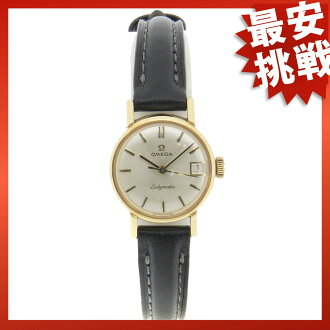 OMEGA ladymatic wristwatch leather/GA/GP ladies