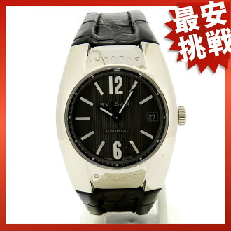 BVLGARI Ergon EGW35G watch ・k18wg / leather men's