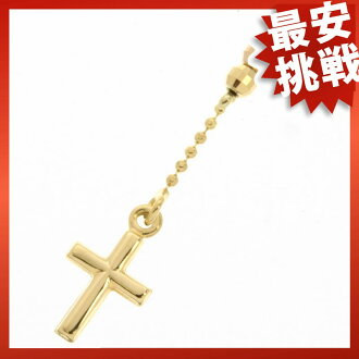 Cross Necklace K18 gold ladies