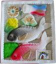 初節句祝いに、おめでたい祝鯛と縁起物のセット!鯉のぼり<KN-250>初節句用 内祝祝い砂糖 鯛型砂糖製品 成型砂糖ギフト【端午の節句 子供の日 こどもの日 5月5日 鯉のぼり 鯉幟】