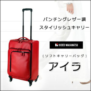 IRA carrying case carry bag HIDEO WAKAMATSU Hideo Wakamatsu perforated leather wind SoftCare IRA 4 wheel large L size for 10P13oct13_b