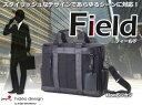 ビジネスバッグ メンズ 紳士 A4/B4対応 2way 2WAY HIDEO WAKAMATSU フィールド ビジカジ ショルダーベルト付き 42cmLサイズ(B4対応)(ブラック)    【送料無料】