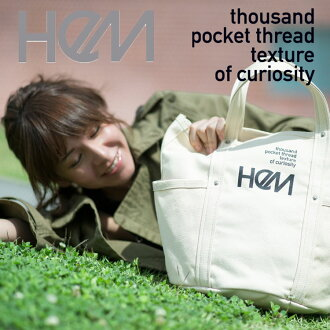 ★TOTEBAG/BOSTONBAG★HeM★Cute HeM Hachette M ST-235-02 canvas tote to school commuter buys celebrity deals black white red Navy correspondence 10P27Jun14 featured popular