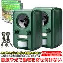 【2個セット】改良版 アニマルガーディアン 猫避け 鳥獣対策 USB充電 日本語パッケージ