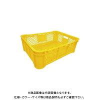 【直送品】安全興業 野菜コンテナ メッシュ 黄 620×462×196mm (5入)