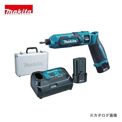 マキタ Makita 7.2V 1.5Ah 充電式ペンインパクトドライバ 青 バッテリー×2本・充電器・アルミケース付