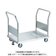 【直送品】TRUSCO オールステン両袖台車 1200X750 φ100NU S付 AS-1W-100NU-S