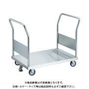 【直送品】TRUSCO オールステン両袖台車 900X600 φ100NU S付 AS-2W-100NU-S